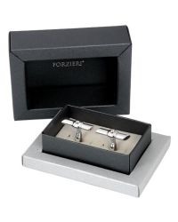 FORZIERI - Metallic Polished Sterling Silver Screw Cuff Links for Men - Lyst