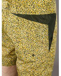 KENZO - Yellow Jungle-Print Swim Shorts for Men - Lyst