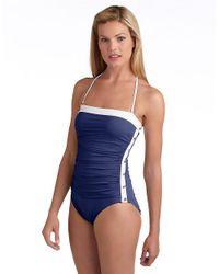 Lauren by Ralph Lauren - Blue Bel Aire Onepiece Swimsuit - Lyst
