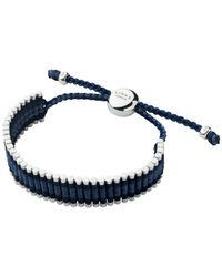 Links of London - Blue Friendship Sterling Silver and Leather Bracelet - Lyst