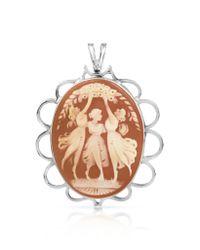 Mia & Beverly - Metallic Cornelian Pin/pendant - Lyst