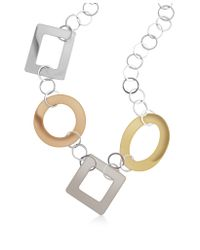 Mita Marina Milano - Metallic Big Sterling Silver and Rose Gold Necklace - Lyst