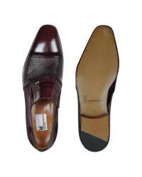 Moreschi - Purple Lugano - Burgundy Leather Loafer for Men - Lyst