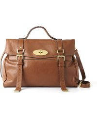 Mulberry Alexa Oversized Buffalo Leather Satchel in Brown - Lyst b57c0cee6125f