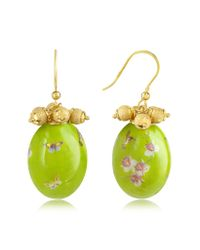Naoto | Green Alchimia - Oval Gold Foil Drop Earrings | Lyst