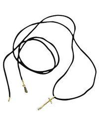 Orlando Orlandini - Metallic Capriccio - 18k Gold Cross Pendant W/ Diamond - Lyst