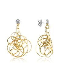 Orlando Orlandini - Metallic Scintille - Diamond 18k Gold Drop Earrings - Lyst