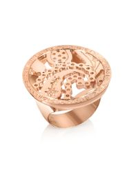 Rebecca | Metallic Cashmere - Rose Gold Ring | Lyst