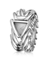 Roberto Cavalli | Metallic Spike - Stainless Steel Dress Bracelet Watch | Lyst