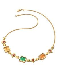 Tagliamonte - Metallic Classic Collection - 18k Gold And Ruby Necklace - Lyst
