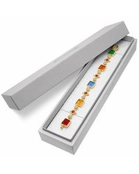 Tagliamonte - Metallic Classics Collection - 18k Gold And Ruby Link Bracelet - Lyst