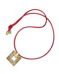 Torrini | Metallic Amore - Gold And Diamonds Open Square Pendant | Lyst