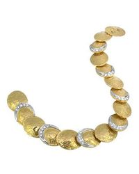 Torrini - Metallic Lenticchie - 18k Gold And Diamond Bracelet - Lyst