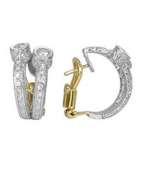 Torrini | Liu Collection - 18k White Gold And Diamond Earrings | Lyst