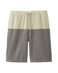 Uniqlo - Gray Color Block Short Pants for Men - Lyst