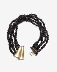 Alexis Bittar - Black Durban Beaded Necklace - Lyst