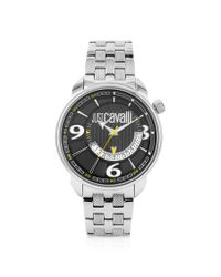 Just Cavalli | Earth -black Dial Date Watch for Men | Lyst