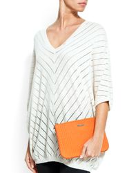 Mango - Orange Touch - Quilted Vanity Case - Lyst