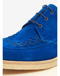 Paul Smith - Blue Suede Creepers for Men - Lyst