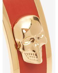 Alexander McQueen - Red 3d Enamel Skull Bangle - Lyst