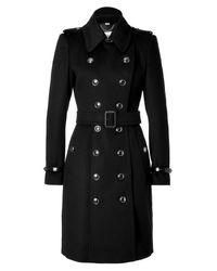 Burberry | Black Wool Cashmere Duncannon Coat | Lyst