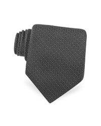 Dior | Black Dotted Logo Woven Silk Tie for Men | Lyst