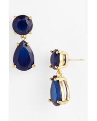 kate spade new york | Blue Drop Earrings | Lyst