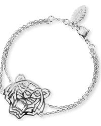 KENZO | Metallic Tiger Charm Bracelet | Lyst