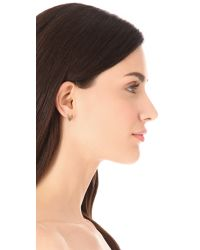 Tory Burch | Metallic Ram Head Stud Earrings | Lyst