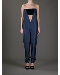 Back by Ann-Sofie Back - Blue Clear Strap Dungarees - Lyst