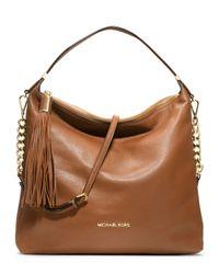 ed781fbeee6875 Lyst - MICHAEL Michael Kors Large Weston Pebbled Shoulder Bag in Brown