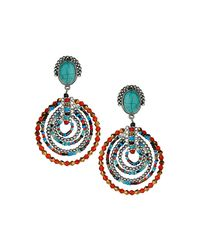 TOPSHOP | Multicolor Mixed Bead Aztec Earrings | Lyst
