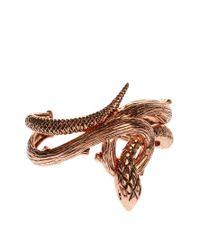 Wildfox | Metallic Wildfox Rose Gold Evil Snake Cuff Bracelet | Lyst