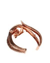 Wildfox - Metallic Wildfox Rose Gold Evil Snake Cuff Bracelet - Lyst