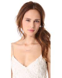 Blanca Monros Gomez - Metallic White Diamond Dainty Necklace - Lyst