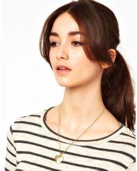 Cath Kidston - Metallic Engraved Heart Locket Necklace - Lyst