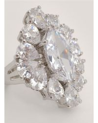 CZ by Kenneth Jay Lane | Metallic Marquise-shape Ring | Lyst