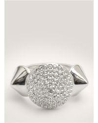 Eddie Borgo - Metallic Crystal-pave Three Cone Ring - Lyst