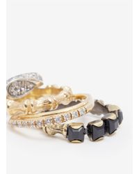 Iosselliani | Metallic Four Ring Set | Lyst