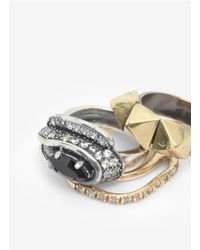 Iosselliani | Metallic Three Ring Set | Lyst