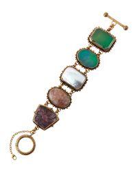 Stephen Dweck - Multicolor Five-station Multi-stone Bracelet - Lyst
