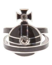 Vivienne Westwood | Black Orb Ring | Lyst
