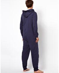 ASOS - Blue Onesie with Hangin Print for Men - Lyst