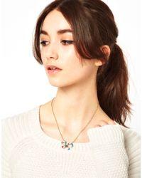Cath Kidston - Metallic Enamel Bow Necklace - Lyst
