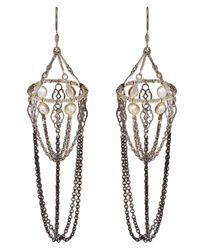 Clemmie Watson - Metallic Chandelier Basket Earrings - Lyst