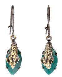 Iosselliani - Metallic Clip On Rams Head Earrings - Lyst