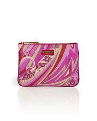 Emilio Pucci - Multicolor Slim Cosmetic Case in Orchid Bordeaux Multi - Lyst