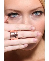 AKIRA - Pink Hammered Metal Stretch Ring  - Lyst