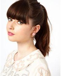 ASOS - Pink Cluster Clip On Earrings - Lyst
