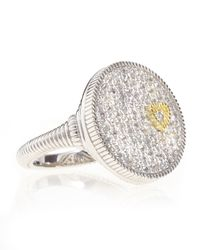 Judith Ripka | Metallic Pave Disc Ring | Lyst